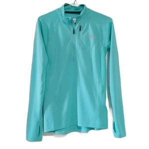 North Face Mint Blue Half Zip Athletic Top